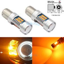 2x Turn Signal Lights Error Free Amber 7507 LED Bulbs For BMW 1 3 4 Series X3 X5