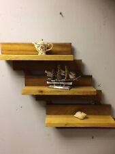 Solid Wood Iroko  Like Oak Teak Wall Shelf Handmade Offcuts