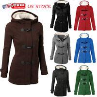 Plus Size Women Hooded Long Sleeve Winter Casual Warm Coat Outerwear Sweatshirt