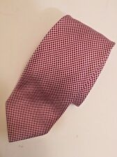 FACONNABLE Coral 100% Silk Tie Geometric Pattern Made In France - Hand Made