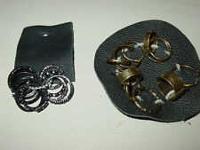 Free People lot 21 rings antique gold shiny black rhinestones pinky toe-NWT-$63.