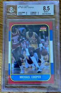 Michael Cooper 1986 Fleer NEAR MINT - MINT + BGS 8.5 Beckett #17 Lakers Guard