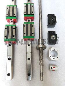 HGR15-360/1000/1400mm Hiwin Linear&RM1605-465/815/1365mm-Ballscrew BK12/BF12 Kit