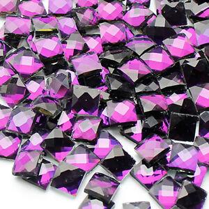 Transparent Square Glass Crystal Mosaic Tiles Diamond Creative Mosaic Making DIY