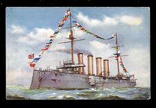 Royal Navy H.M.S.. Drake Armoured Cruiser PPC Tuck Oilette #9082