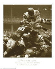 FOOTBALL 1960 ART PRINT - NY GIANTS New York REDSKINS Over the Top Poster