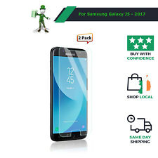 2 X Genuine Tempered Glass 9H Screen Protector For Samsung Galaxy J5  (2017)