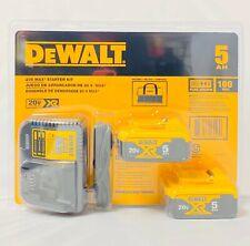 Dewalt 20V DCB205-2CK 5Ah Lith-Ion dcb115 2 Batteries & charger Starter Kit NEW