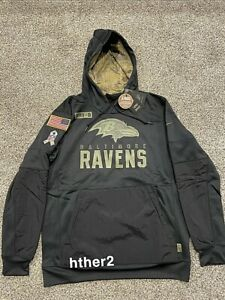 AUTHENTIC Nike 2020 Baltimore Ravens Salute to Service Hoodie ALL SIZES In Hand