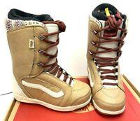 $190 Vans Hi-Standard Womens Snowboard Boot Size 6, 6.5 Starfish Tan/Turtledove