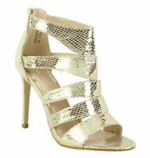 Strappy, Ankle Strap Casual Wet look, Shiny Heels for Women