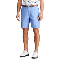 "Polo Ralph Lauren RLX Men's Golf Chino 9"" Shorts Sand Hollow Blue Size 35 NWT 🔥"