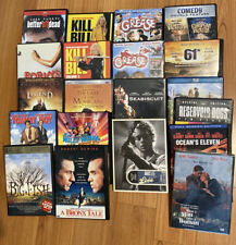 Dvds - Kill Bill 1 & 2, Grease 1 & 2, Seabiscuit, 61*, Ocean's 11, Porky's, More