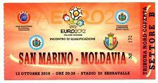 Ticket San Marino - Moldova 12.10.2010