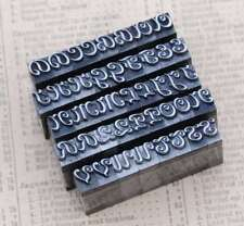 Alphabet Bleilettern Vintage Siegel Stempel Buchstabe Initial lettepress stamp..