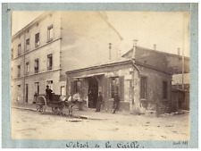 France, Octroi de la Caille  vintage print  Tirage albuminé  12x17  Circa