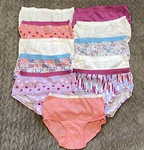 11 pr Fruit of the Loom Girls' Cotton Underwear  - Briefs SZ 6