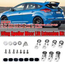 For 13-18 Ford Focus ST ANODIZED Black Rear Wing Spoiler Riser Lift Extension