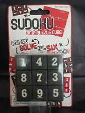 SUDOKU Math Puzzle Cube 3x3 Rubiks Rubics Rubix Number Game Toy Brain Teaser