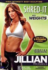 Jillian Michaels: Shred With Weights * NEW DVD * build lean muscle burn calories
