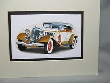 1933 Chrysler Imperial    Auto Museum Artist Full color Illustrated  Print