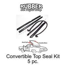 1971 1972 1973 1974 1975 1976 Buick Cadillac Chevy Convertible Top Seal Kit 5 pc