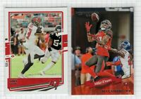 (2 LOT) 2020 Mike Evans Panini Donruss Football Buccaneers Card