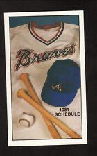Atlanta Braves--1981 Pocket Schedule--Chevrolet