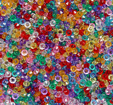 Multi Transparent 6mm Rondelle faceted spacer beads 1000pc made in USA