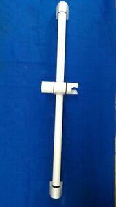 WHITE  Bathroom Adjustable Shower Riser Rail Bracket Shower Head Holder Bar Kit