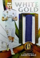 2019-20 Panini Gold Standard =Gareth Bale= AU White Gold  #'d /49 Real Madrid