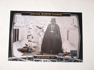 2007 STAR WARS 30 EPISODE IV 4 PROMO CARD # P1! DISNEY ENTER DARTH VADER!