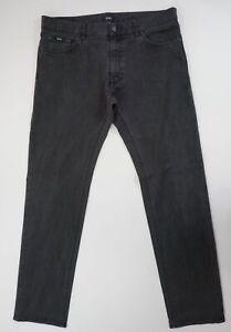 Hugo Boss Jeans Maine1 W38 L36 38/36 schwarz stonewashed gerade Denim X367