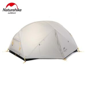 Naturehike Silicone Double Layer Camping Tent Camping Green 2 Persons Gray