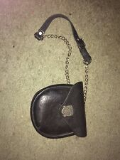 Tilted Kilt Pub Black Leather Sporran Waist Hip Bag Fanny Pack