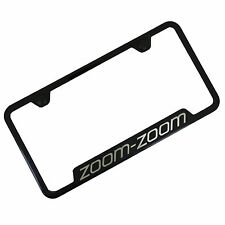 Mazda Zoom Zoom Black Notched Stainless Steel License Plate Frame
