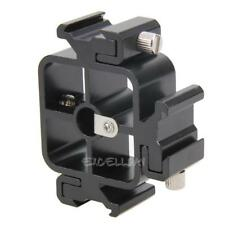 3 in1 All-metal Tri-Hot Shoe Mount Adapter for Flash Holder Bracket E0Xc