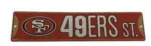 "New NFL San Francisco 49ers Home Decor AVE Street Sign 16"" x 3.75"" Plastic"