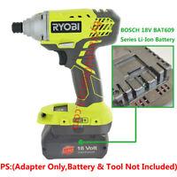 1PCS BOSCH 18V Li-Ion Battery To Ryobi 18V Cordless Tools Adapter (Adapter Only)