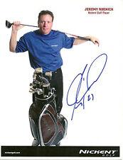 Jeremy Roenick Hand Signed 8 1/2 x 11 Promo Golf Photo Autograph NHL