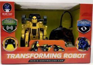 Blue Hat Toys Transforming Robot Radio Controlled Car Yellow