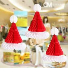 Retro Christmas Paper Honeycomb Decorations Santa Snowflake Hat Tree Ball Bell x