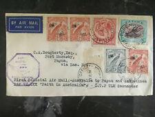 1934 Port Moresby Papua New Guinea First Flight Cover to Australia FFC