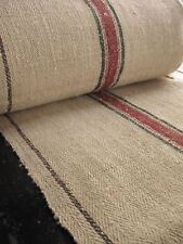 Antique hemp Table runner 1.1 yds GREEN TERRACOTTA