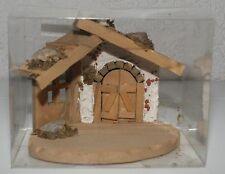 Krippe  Minikrippe Holz Eckversion 15 cm x 10,5 cm x12 cm Holzkrippe Ovalplatte