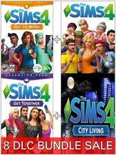 The Sims 4 + 8 DLC Bundle Get to Work Get Together City (PC/Mac) Region Free