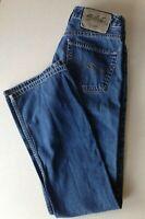 Silver Jeans Women's Size 27/32 Boot Cut Hi-Rise Distressed Denim Blue Jeans