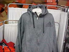 NBA 2011-12 Team Issued Charcoal Adidas Travel Hooded Full Zip Sweatshirt Sz 5XL