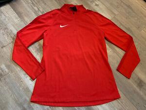 Nike Academy 18 Drill 1/4 Zip Long Sleeve Women's Medium Red 893710 Pullover
