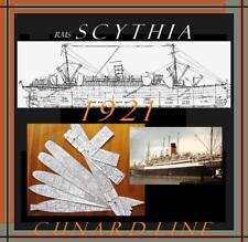 RMS SCYTHIA 1921 Cunard: Retractable General Arrangement Deck Plans / Profile